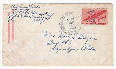WW2 U.S. APO 708 Espritu Santo New Hebrides Cover 298th Infantry 1943 Censor