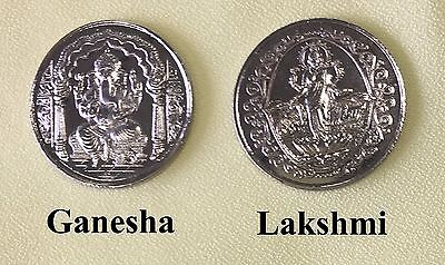 Temple Blessed Holy Coins: Lakshmi- Swastik, Ganesha-Om