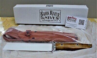 Bark River Smoke Jumper CPM 3V Dark Curly Maple Hollow