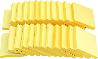 (4A Sticky Note Office Supplies 3'' x 3'' Canary Yellow 24 Pads Total 2400 Sheets)