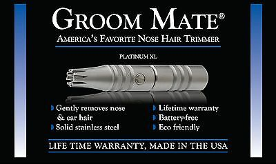 Groom Mate Platinum Xl Nose Hair Trimmer   Made In Usa  Direct From Manufacturer