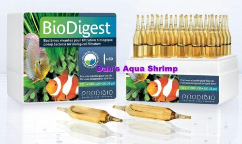 Prodibio BioDigest Living Beneficial Bacteria Freshwater Saltwater 30 Vials