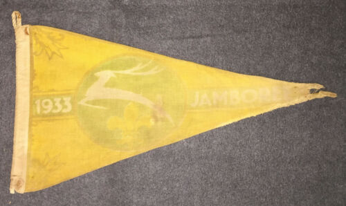T977 Scouts 4th WORLD SCOUT JAMBOREE 1933 - PENNANT
