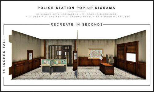"Extreme Sets Police Station Pop-Up Diorama 1/12 Scale for 6""-7"" Action Figures"