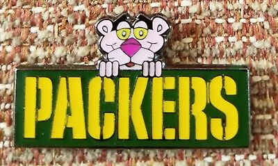 PINK PANTHER GREEN BAY PACKERS COLLECTORS PIN