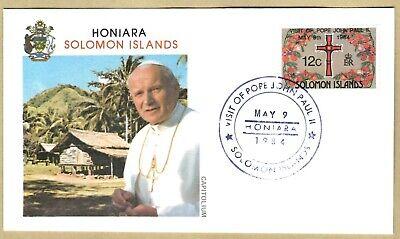 Ersttagsbrief FDC Papst Johannes Paul II Honiara - Solomon Islands 1984