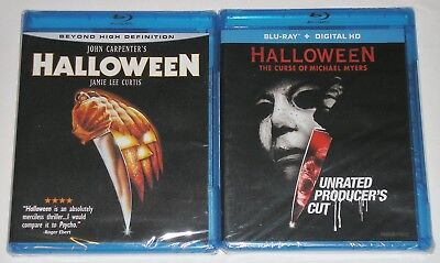 Horror Blu-ray Disc Lot - Halloween (New) Curse of Michael Myers Producer's - Halloween Producer's Cut