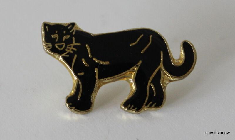 New Black Panther Lapel Hat Pin Jungle Animal Mammal Cougar Tie Tack Walking