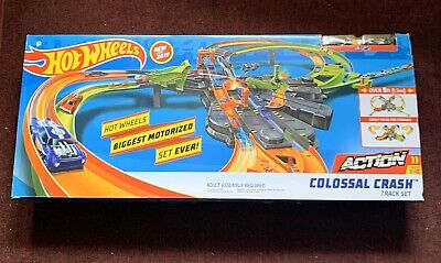 NEW Hot Wheels GFH87 Colossal Crash Track Set Mattel 2019 Car Toy Matchbox Game