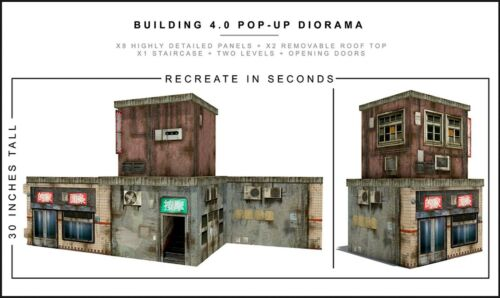 "Extreme-Sets Building 4.0 Pop-Up Diorama 1/12 Scale for 6""-7"" Action Figures"