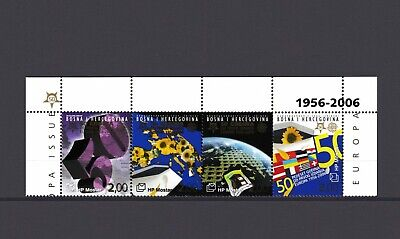 BOSNIA-CROATIA, 50th ANNIVERSARY OF EUROPA CEPT from 2006 with MARGINS, MNH