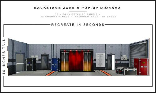"Extreme-Sets Backstage Zone A Diorama 1/12 Scale for 6""-7"" Action Figures"
