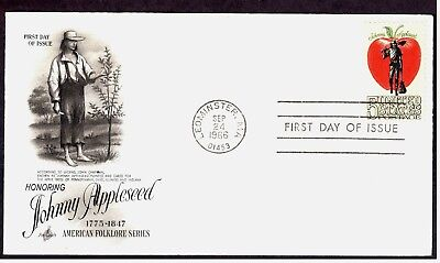 Scott 1317 FDC Johnny Appleseed American Folklore Art Craft Cachet (Johnny Appleseed Craft)