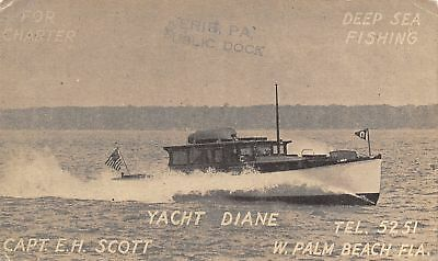 West Palm Beach FL Deep Sea Fishing Boat Yacht Diane For Charter~Cpt Scott 1930s