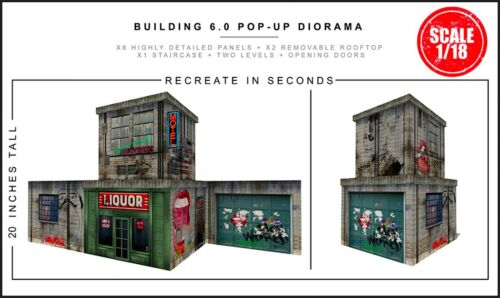 "Extreme-Sets Building 6.0 Pop-Up Diorama 1/18 Scale for 3.75"" Action Figures"