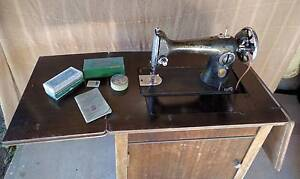 Antique Singer Sewing Machine in Timber Cabinet Coolum Beach Noosa Area Preview