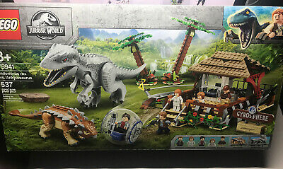Lego Jurassic Park World Indominus Rex vs Ankylosaurus Set 75941 NEW! 537 Pieces