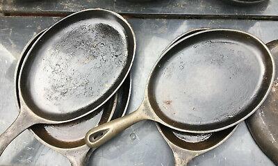 Cast Iron Skillet Oval Hot Plate Pan 15x7 Frying Fry Fajita Steak Sizzler Server