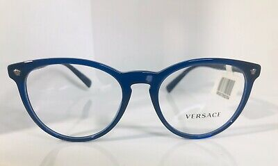 New 100% Authentic Blue Versace Prescription Glasses Frames Unisex Men's Womens
