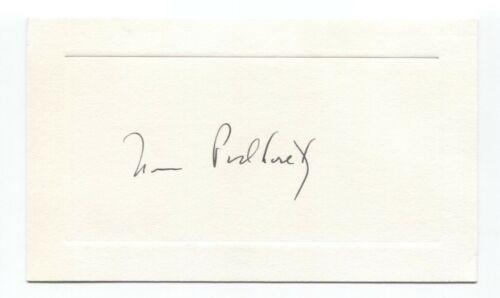 Norman Podhoretz Signed Card Autographed Signature Writer Pundit