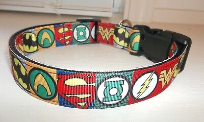 Super Hero Comics Grosgrain Ribbon Terri's Dog Collar handmade adjustable