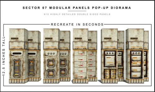 """Extreme-Sets Sector 07 Modular Panels Diorama 1/12 Scale for 6""""-7"""" Action Figure"""