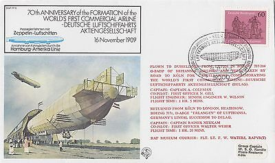 (90765) Germany Cover RAF FF8 1st Commercial Airline 70 yrs Cologne 16 Nov 1979 on Lookza