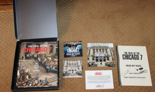 Netflix THE TRIAL OF THE CHICAGO 7 Promo Signed Book, 2 CD