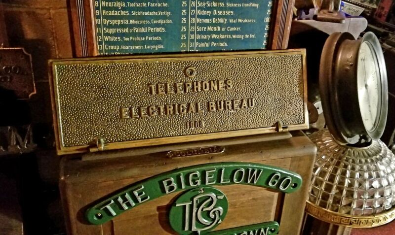Architectural Salvage Philadelphia Pa Antique Electric Telephone Bronze Plaque