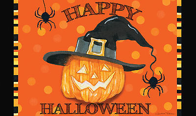 Toland Witch Pumpkin 18 x 30 Decorative Happy Halloween Floor Mat Doormat - Halloween Floor
