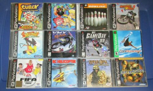 Lot of 12 Sony Playstation 1 PS1 Games Fast Shipping!