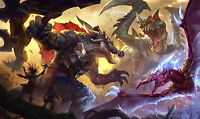 Poster 42x25 Cm League Of Legends Renekton Cho'gath Anivia Jurasica Jurassic Lol -  - ebay.es