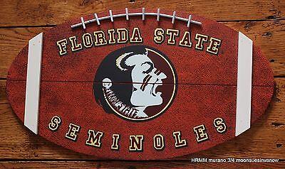 Florida State Seminoles University College Football Shape Wood Sign Wall Door ()