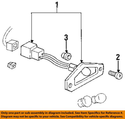 Buick GM OEM 92-98 Skylark License Lamps-Rear Lamps-License Lamp 5976046