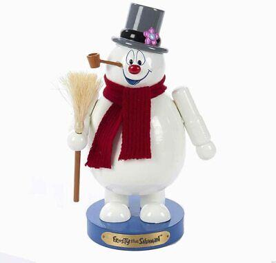 """Kurt Adler 10"""" Wooden Frosty the Snowman Nutcracker"""