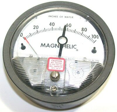 Dwyer Magnehelic 0 To 100 Differential Pressure Gage 2010