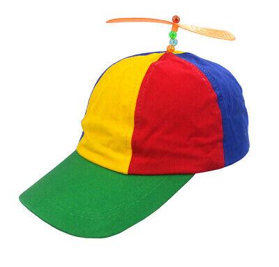 Adult Propeller Beanie Hat Clown Costume Baseball Helicopter Copter Ball Cap (Clown Hats)