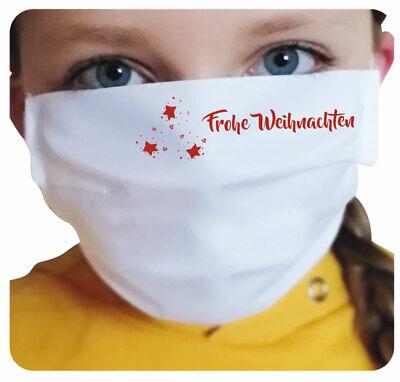 Mund-Nasen-Maske - Sterne / Frohe Weihnachten - Schutz gegen Infektionen