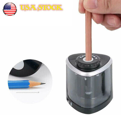 Pencil Sharpener Electric Automatic Free Switch School Classroom Convenient
