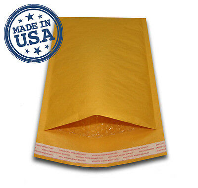 - 500 #000 4x8 KRAFT BUBBLE PADDED MAILERS SHIPPING SELF SEAL ENVELOPES 4