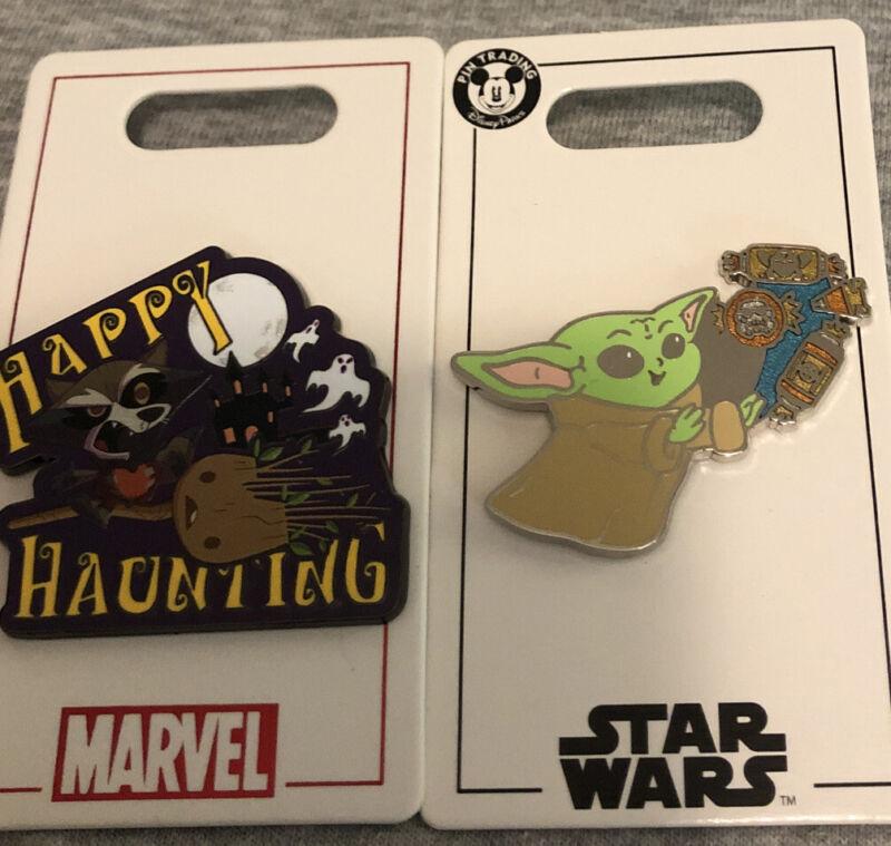 Disney Parks Halloween Star Wars The Child Marvel Happy Haunting 2 pins