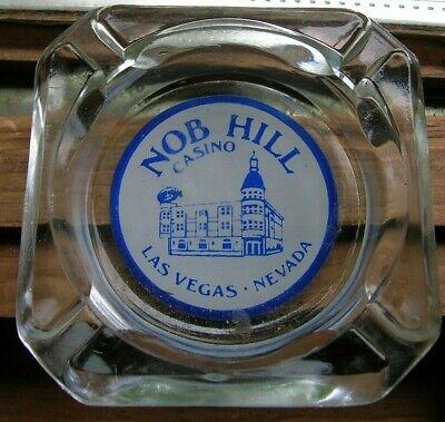 Vintage Glass Ashtray ~ Nob Hill Casino ~ Las Vegas Nevada ~ FREE Ship