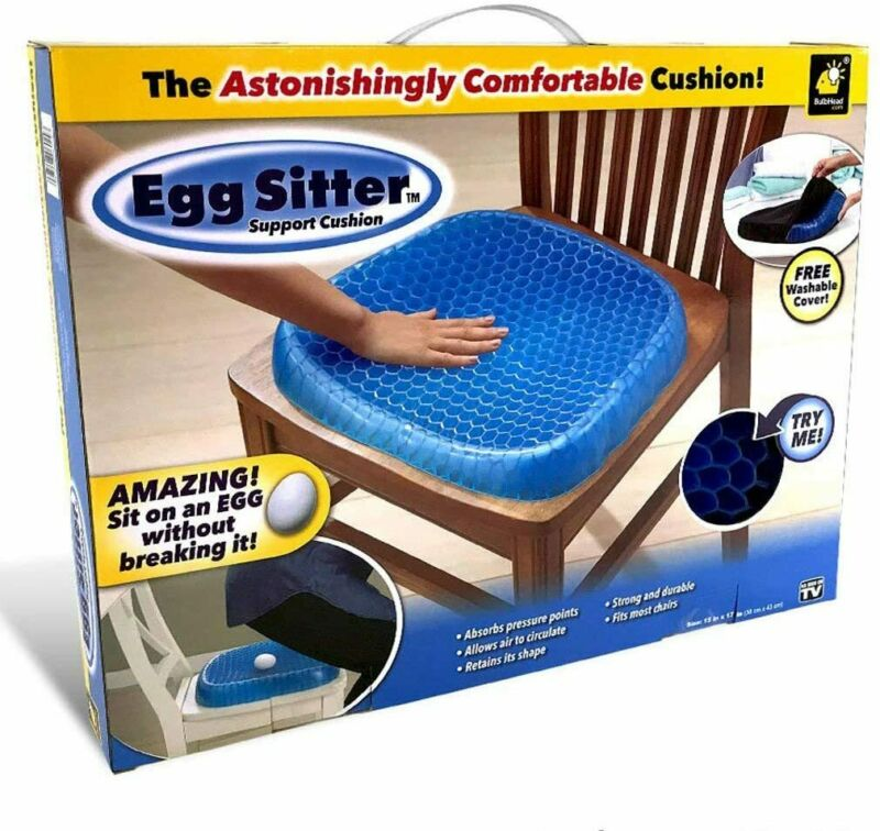 Egg Sitter Support Cushion W/ Non-Slip Cover, Breathable Honeycomb Design