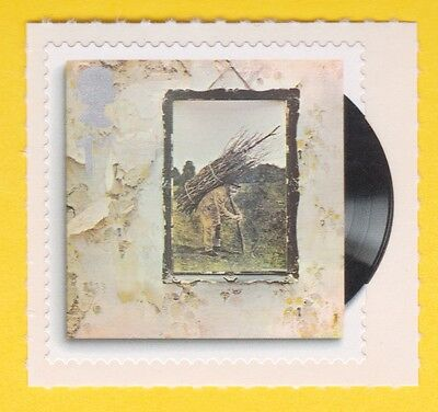 LED ZEPPELIN IV Classic Album Covers STAMP ROCK & ROLL MUSICIANS UNUSED POSTAGE