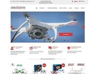Drones, QuadCopters and RMC Accessories Dropshipping Business For Sale