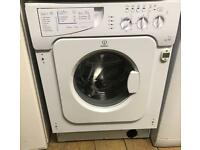 INDESIT IWDE126 NICE INTEGRATOR WASHER & DRYER 3 MONTH WARRANTY, FREE INSTALLATION