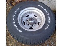 BF Goodrich All Terrain Wheels/Tyres x 4 : Size 31 v 10.50 R15 LT 109Q : Used/Good condition
