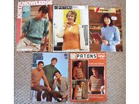 VINTAGE KNITTING PATTERNS: 5 x 1970s - 1980s Patons knitting pattern leaflets. £4 ovno lot/�£ each