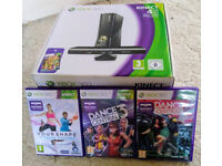 Microsoft Xbox 360 Console 4GB with Kinect and 4 games