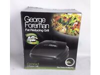 George Foreman Fat Reducing Grill Compact 2-Portion Grill Machine Black Used